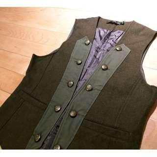 Olive military vest