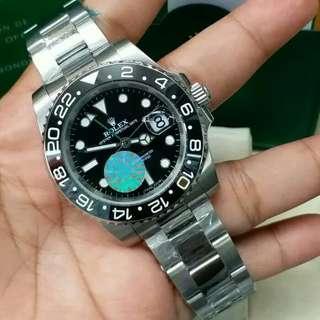 Jam Tangan Rolex GMT Master II Black