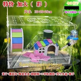 CNY Promo! Acrylic Hamster Cage (Transparent)