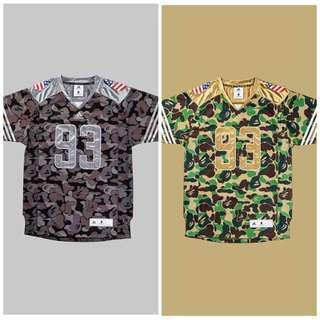 8227b7a337 adidas x Bape Football Jersey Green and Black