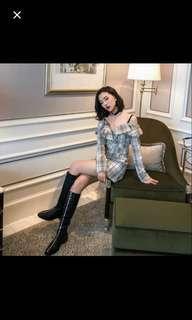 韓國露肩 連身裙