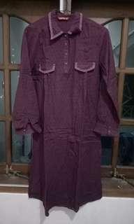 Kemeja dress ungu
