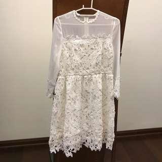 Pazzo 白微透洋裝