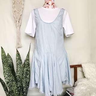 Korean Brand Lightwash Denim Jumper Dress