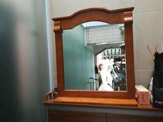 Mirror 實木鏡子