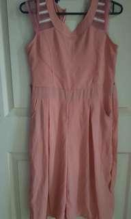 Pink Romper/ 3/4 jumpsuit