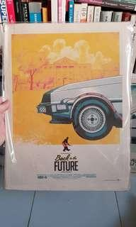 Back to the future prints movie poster