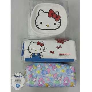 韓國製造, hello kitty little twin stars,筆袋, pens bags 全新100%new, 原裝包裝盒, made in korea,