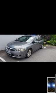 Honda Civic 1.8a for rent