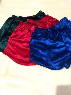 REPRICED!!! Velvet dolphin shorts (pack of 3's)
