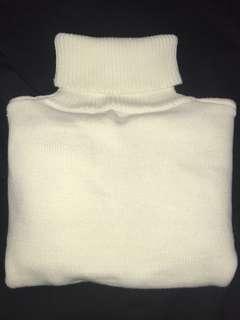 🚚 白色高領毛衣