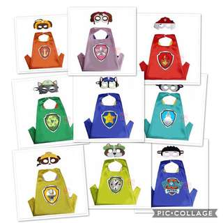 c070d1d01529c1 Paw patrol mask and cape 9 design available