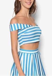Miss Selfridge PETITES Blue Stripe - One Set