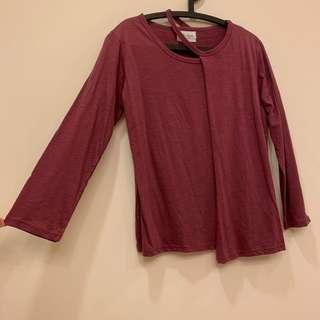 🚚 梅紫紅 長袖上衣