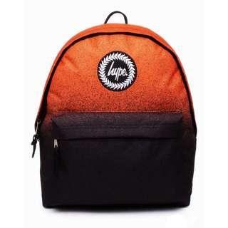 Hype backpack 橘黑漸層後背包