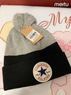 converse 帽 拼色黑+灰 兒童帽
