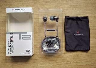 Einsear T2 Earphones (Gray, With Mic)