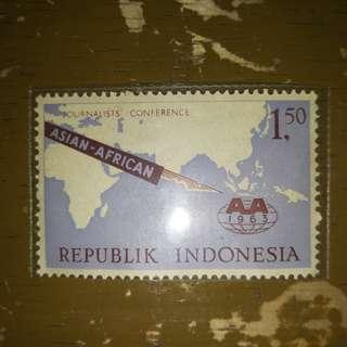 Republik Indonesia Stamp ( Asia-Africa Conference 1963 Special Edition )