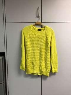 Top shop neon sweater