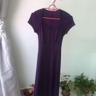 Purple long maxi dress