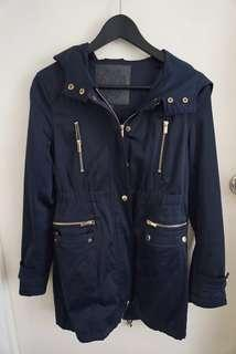 Forever New Navy trench coat AU 4