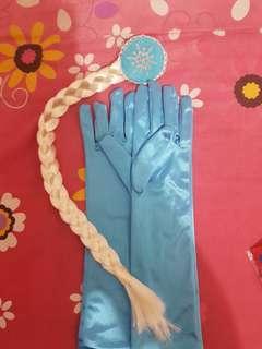 elsa gloves and hair braid
