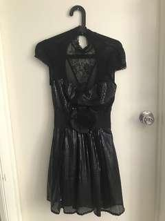 Bebe black lace cocktail dress AU 6