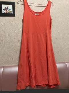 🚚 Peach tank dress M size