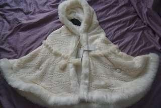 Japan Cecil McBEE Fake fur cute white cape free size