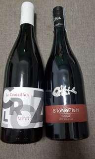 2 for $25. Retail @ $100. NEW. Red Wine. Stonefish & La Croizillon.