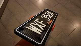 Real Carbon Fiber Registration Plate Number