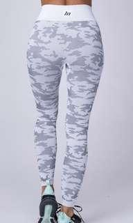 Muscle nation seamless camo leggings (snow camo)
