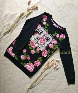 Floral Black Sweater