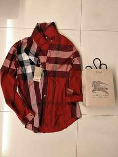 burberry burberrys military red check ladies