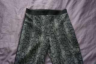 Topshop snake skin pattern tight pants AU 6
