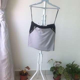 Kitschen black grey mini skirt