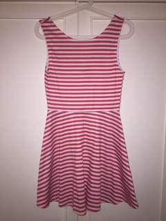 H&M Backless Striped Dress