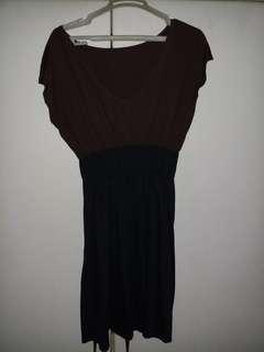 Brown & black dress
