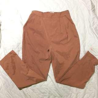 Reddish Brown Slacks Pants
