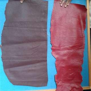 two pieces leather