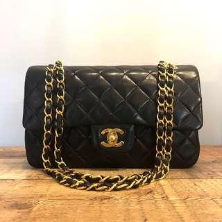 b4e8e045d7b2b9 Authentic Chanel 9 Inch Puffy Classic Flap in Pristine Vintage Condition w  24k gold hardware bag