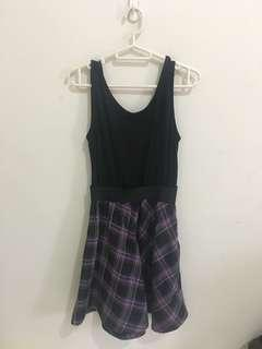 Dress Purple Plaid Skirt