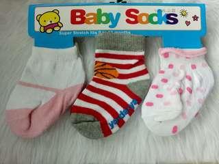 Brand New 3 pairs Baby Socks