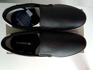 Brand new Lacoste shoes. Free 3 pairs white Reebok socks.