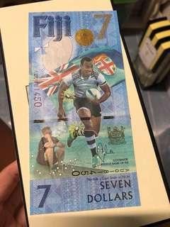 Fiji 7Dollar Note (7人攬球限量版紀念鈔)