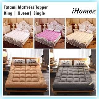 Tatami Bed Mattress Topper Protector Mat Alas Pelapik Tilam Soft Toppers