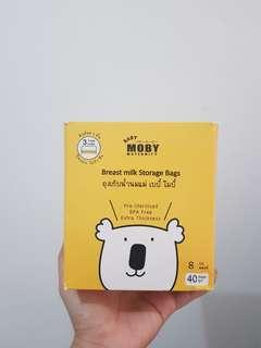 Moby and Ai-non breastmilk storage bags