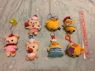 🚚 拉拉熊/懶懶熊/懶妹/小雞 吊飾玩偶