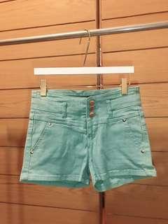 🚚 全新 Tiffany綠彈性高腰短褲