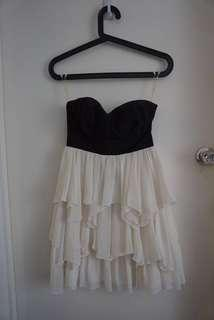 Tube black and white dress AU 6 wired under bra